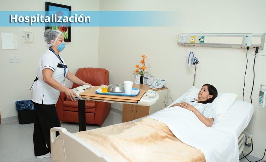 Hospitalización de paciente